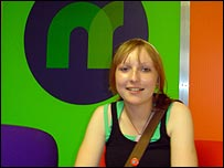 Emily in the Newsround office