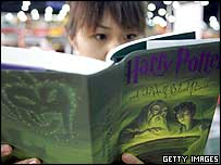A fan reading the Half-Blood Prince