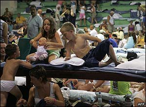 Children in a shelter in Cancun