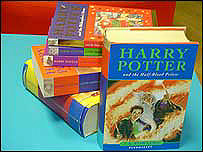 The first six Harry Potter books