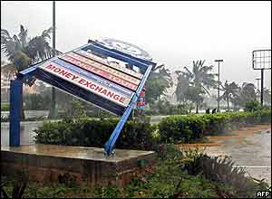 Damage in Mexican resort of Cancun