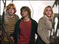 A scene from Goblet of Fire