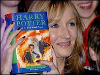 JK Rowling with the Half-Blood Prince