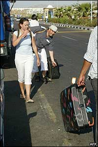 Tourists in Sharm al-Sheikh