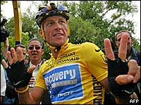 Lance Armstrong before his final Tour de France stage