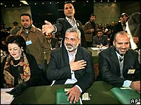 Ismail Haniyeh, Hamas' apparent choice for prime minister