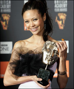 Thandie Newton was surprised to bag the best supporting actress gong