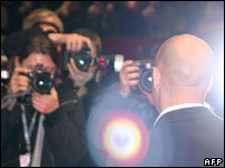 Actor Vin Diesel is in the focus of photographers
