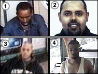 The four bomb suspects
