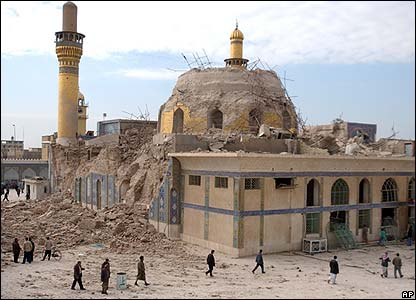 Damaged al-Askari shrine