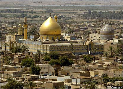 View of the shrine in Samarra before the explosion