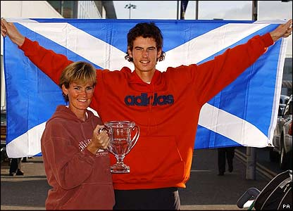 Andy Murray with his Mum Judy