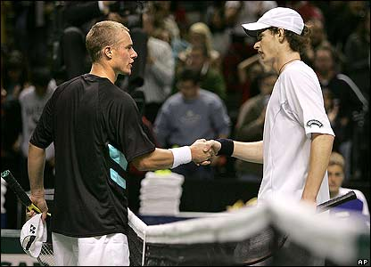 Andy Murray after beating Lleyton Hewitt