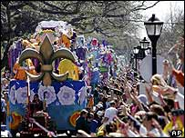 Mardi Gras parade in the Uptown area of New Orleans