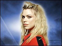 Billie Piper as the Doctor's companion, Rose.