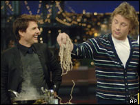 Chef Jamie Oliver cooks for fellow Dyslexic Tom Cruise