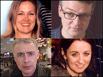 Authors Louisa Adomakoh Young, Charlie Higson, Eoin Colfer and Cathy Cassidy