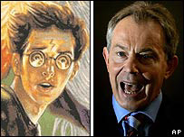 Harry Potter (left) and Tony Blair