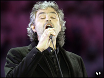 Andrea Bocelli is one of three tenors in the top 10 of the album chart.