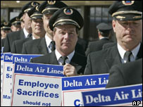 Airline pilots on strike