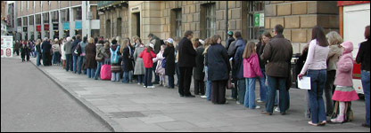 People queued for two hours