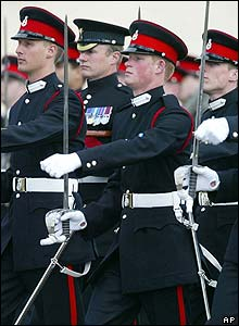 To mark the occasion Harry took part in a special passing out parade