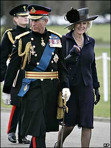 The Prince's father Prince Charles and his wife the Duchess of Cornwall also attended the special parade