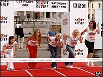 Stars line up to launch Sport Relief 2006