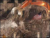 Work to clear Ground Zero in New York
