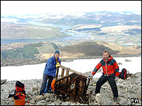 The piano at the top of Ben Nevis.