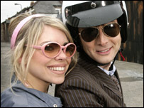 Billie Piper and David Tennant