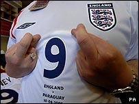 An England shirt