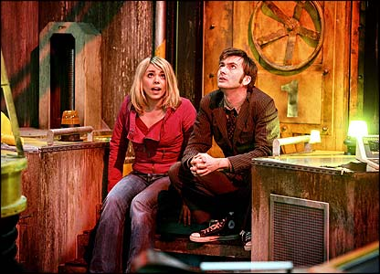 David Tennant as Doctor Who and Billie Piper as Rose Tyler