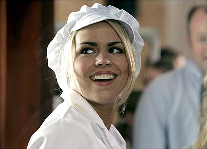 Billie Piper as a dinner lady
