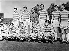 Celtic team before kick-off