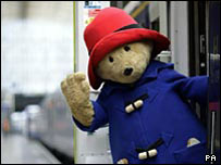Paddington Bear is taking part in the party
