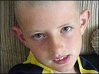 Chadleigh Walker was sent home from school because of his shaved head