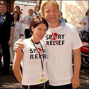 Actress Sadie Frost and chef Jamie Oliver