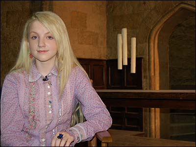 Evanna Lynch during her first ever TV interview with Newsround