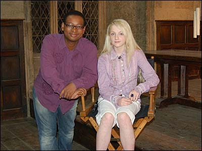Evanna with another big Potter fan - Newsround's Lizo Mzimba