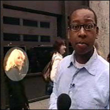 Look out Lizo! She's behind you! Lizo just missed bumping into Evanna when he went to the open auditions to find Luna Lovegood!