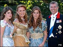 Princess Beatrice and her family
