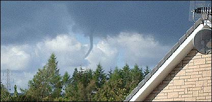 Funnel cloud spotted by Jessica, 10