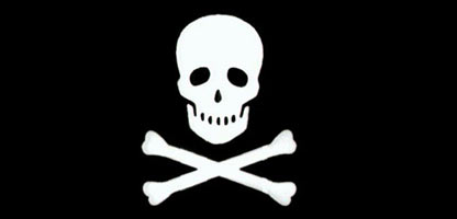 Sign of the pirates - a skull and crossbones
