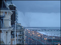 The tornado next to Brighton pier - picture by Pete Machin
