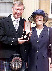 Sir Alex et M'dame Cathy Ferguson