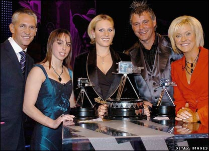 Gary Lineker, Beth Tweddle, Zara Phillips, Darren Clarke and Sue Barker