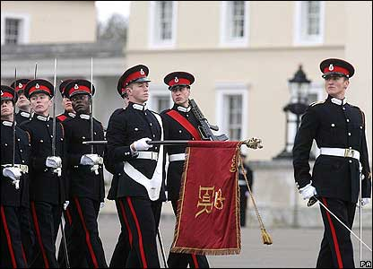 During the service William marched at the front of the line with his fellow officers