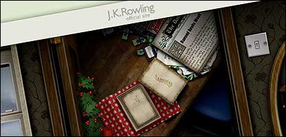 JK Rowling's website