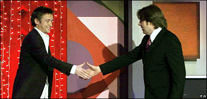 Richard Hammond (left) with Jonathan Ross